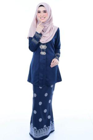 Kebaya Kain Songket Navy Blue