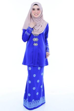 Kebaya Kain Songket Royal Blue