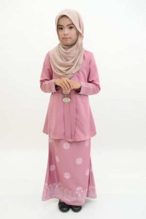 Kebaya Kain Songket Kids Dusty Pink