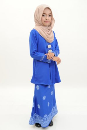 Kebaya Kain Songket Kids Royal Blue