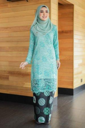Kurung Suria Turquoise