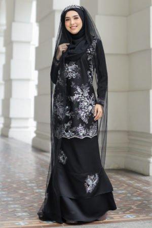 Kurung Zayyan Black