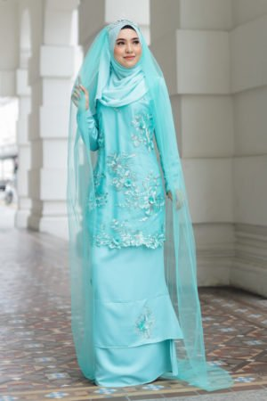 Kurung Zayyan Mint Green