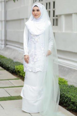 Kurung Zayyan White
