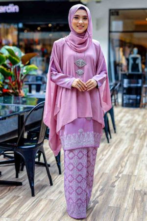 Kurung Permaisuri Dusty Purple