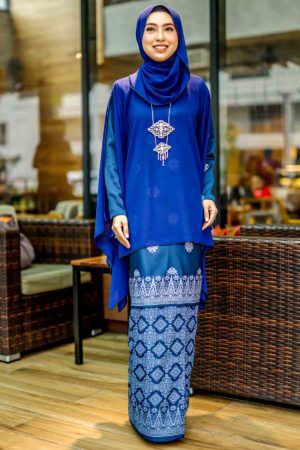 Kurung Permaisuri Navy Blue