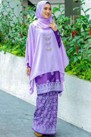 Kurung Permaisuri Purple Keladi