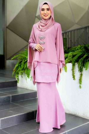 Kurung Ratu Dusty Purple