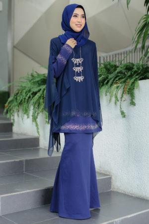 Kurung Ratu Navy Blue