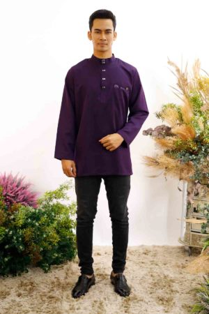 Kurta Abu Bakar Dark Purple