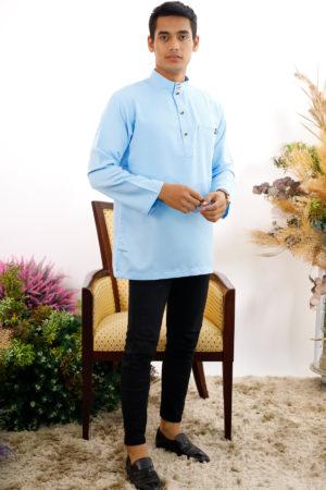 Kurta Abu Bakar Baby Blue