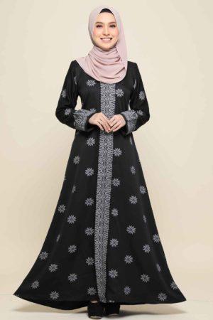 Jubah Songket Black