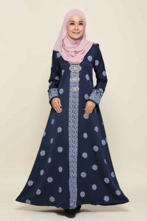 Jubah Songket Navy Blue