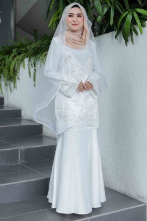 Kurung Songket Off White