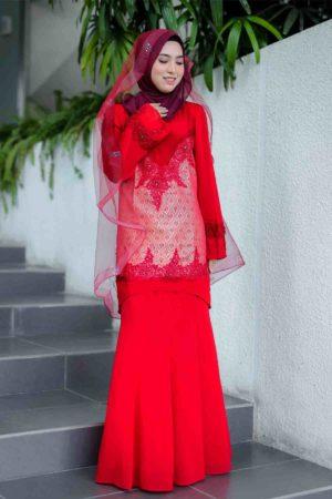 Kurung Songket Red