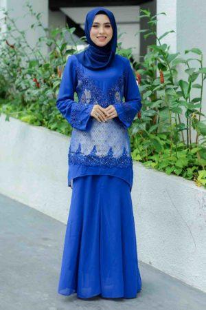 Kurung Songket Royal Blue