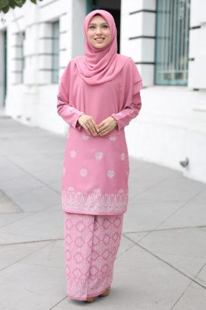 Kurung Songket Tabur Dusty Pink