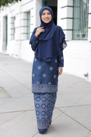 Kurung Songket Tabur Navy Blue