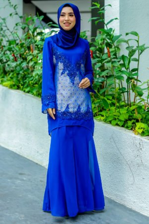 Kurung Songket Royal Blue