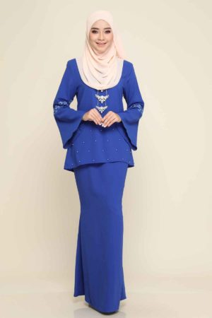 Kurung Suzanne Royal Blue