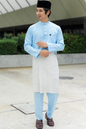 Baju Melayu Sakura Baby Blue