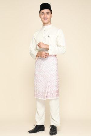 Baju Melayu Abaya Cream