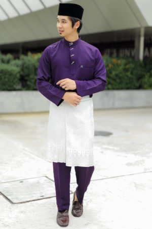 Baju Melayu Sakura Dark Purple
