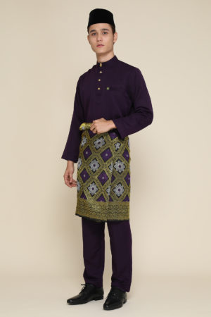 Baju Melayu Abaya Dark Purple