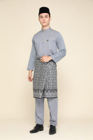 Baju Melayu Abaya Grey