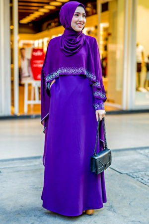 Jubah Ratu Arab Dark Purple
