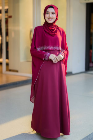 Jubah Ratu Arab Maroon
