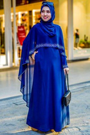 Jubah Ratu Arab Navy Blue