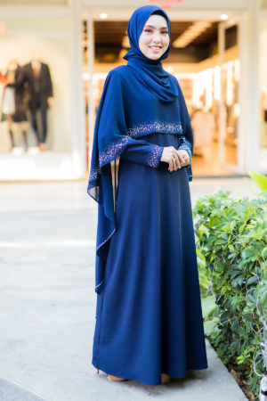 Jubah Ratu Arab Navy Blue