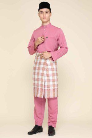 Baju Melayu Abaya Dusty Pink