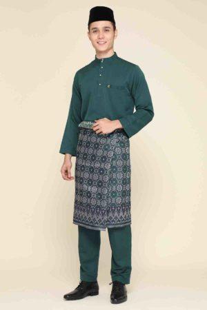 Baju Melayu Abaya Emerald Green