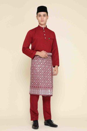 Baju Melayu Abaya Maroon