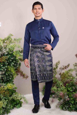 Baju Melayu Abaya Navy Blue