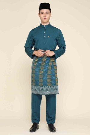 Baju Melayu Abaya Teal Blue