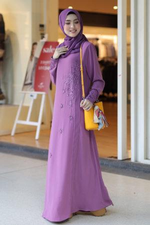 Jubah Afra Dusty Purple