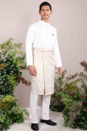 Baju Melayu Sakura Off White
