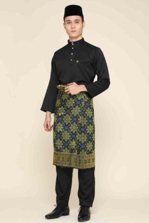 Baju Melayu Sakura Black