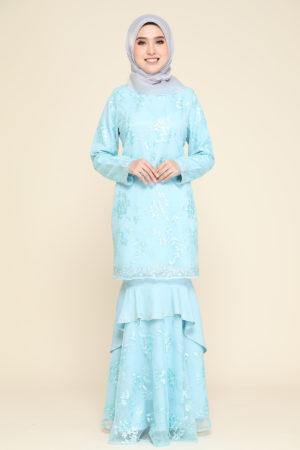 Kurung Careena Aqua Blue