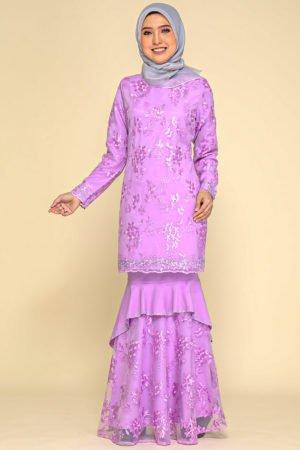 Kurung Careena Purple Lavender