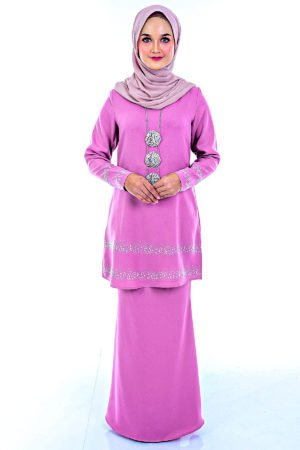 Kurung Cempaka Dusty Purple