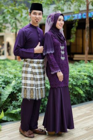 Set Couple Tyara Dark Purple ( FULL SET )