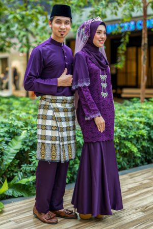 Set Couple Tyara Dark Purple