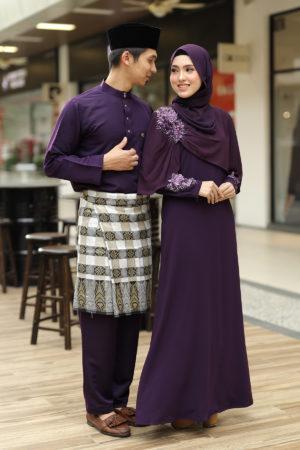 Set Couple Diyana Dark Purple