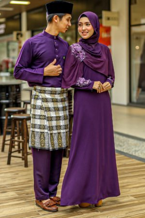 Set Couple Diyana Dark Purple