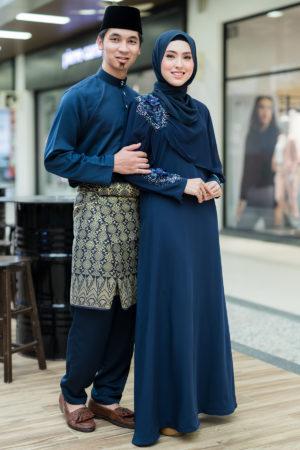 Set Couple Diyana Navy Blue (FULL SET)
