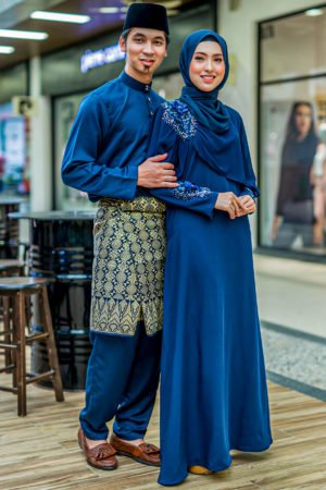 Set Couple Diyana Navy Blue